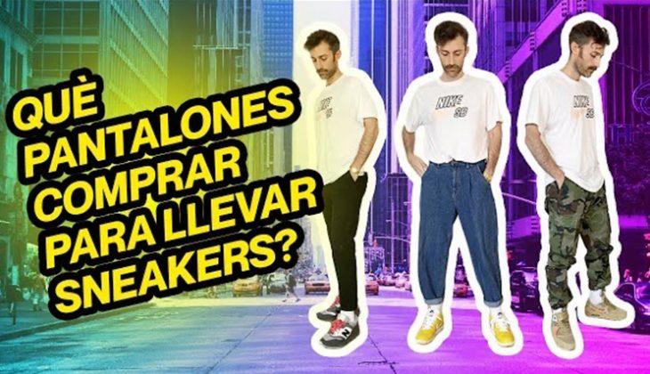 que pantalones comprar para llevar sneakers