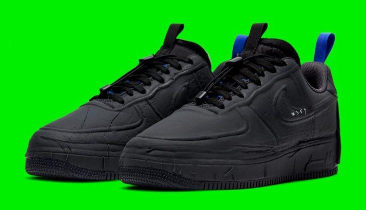 Nike Air Force 1 Experimental Black es puro fuego