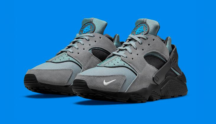 La Nike Air Huarache Grey Black Laser Blue es material de primera