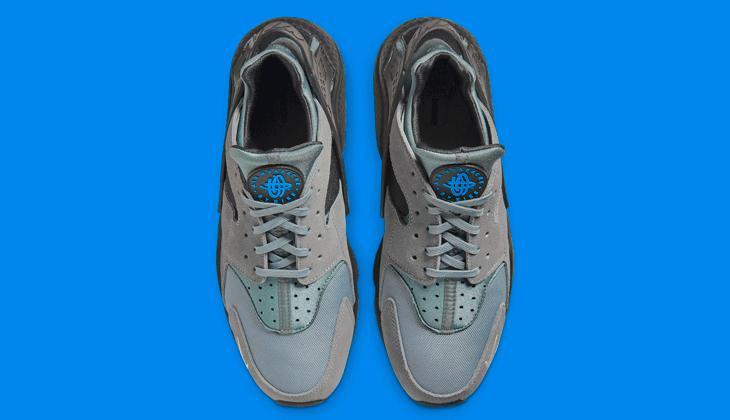 Nike Air Huarache Grey Black Laser Blue