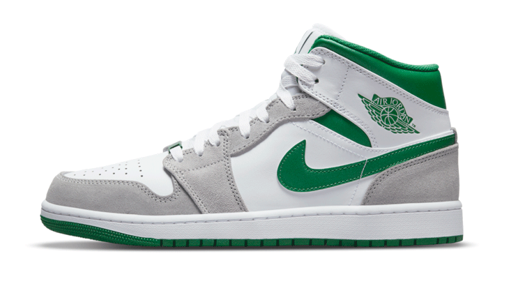Nike Air Jordan 1 Mid Green Grey