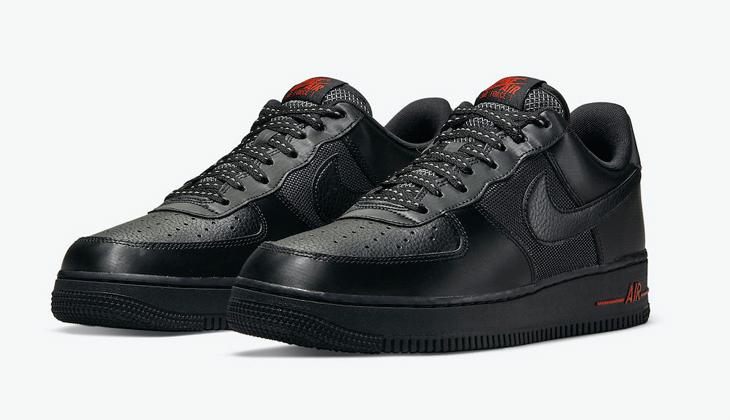 Nike Air Force 1 Black Red, otra AF1 que brilla en la oscuridad…
