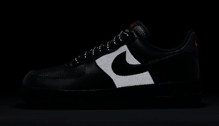 Nike Air Force 1 Black Red