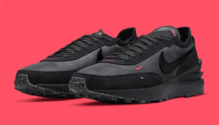 La Nike Waffle One Black Red es la sneaker perfecta para entre semana…