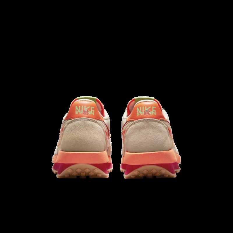 The CLOT x sacai x Nike LDWaffle Orange Blaze