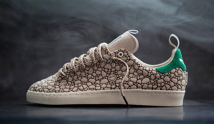 Bait x Adidas Stan Smith Vulc inspiradas en la marihuana