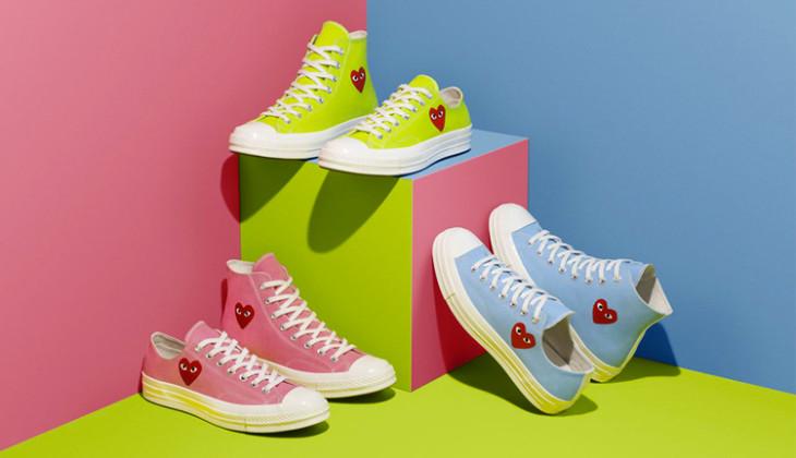 Nuevos colores CDG x Converse Chuck 70
