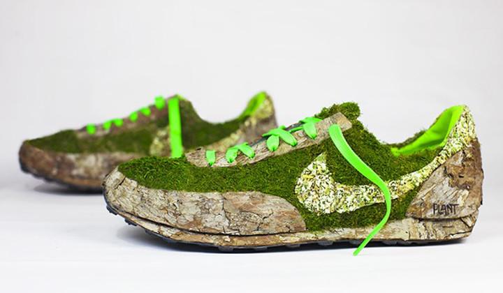 Mr. Plant, el artista que convierte zapatillas en plantas de jardín