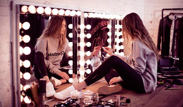 "Gigi Hadid imagen de la campaña Reebok Club C ""Diamond"" Pack"