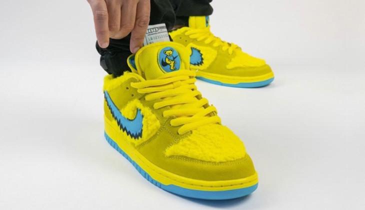 Primeros On Feet de las Grateful Dead x Nike Sb Dunk Low