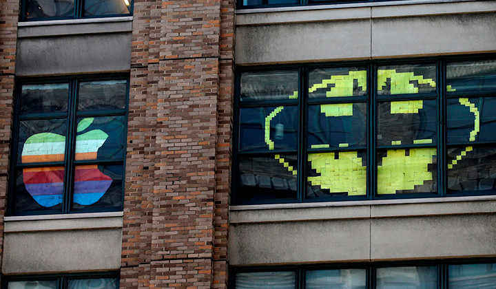 Guerra de post it en las oficinas de manhattan - Donde estan las oficinas de apple ...