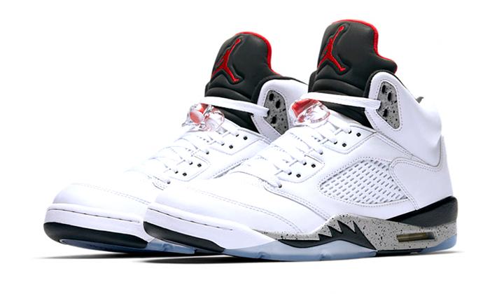Lanzamientos de sneakers-Air-Jordan-5-White-Cement