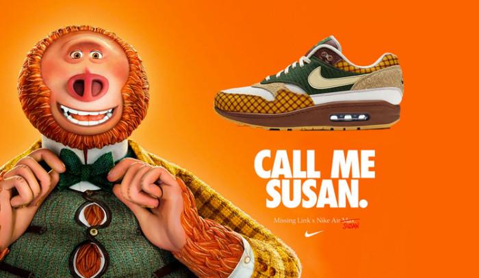 Cuando la animación y el swoosh se fusionaron: Missing Film x Nike Air Max 1 Susan