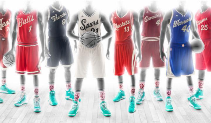 Los nuevos uniformes de la NBA para el día de Navidad