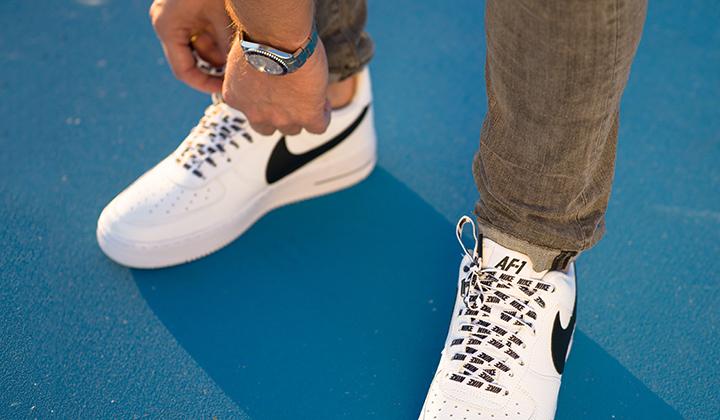 Nike Air Force 1 07 LV8 White NBA Pack onfeet