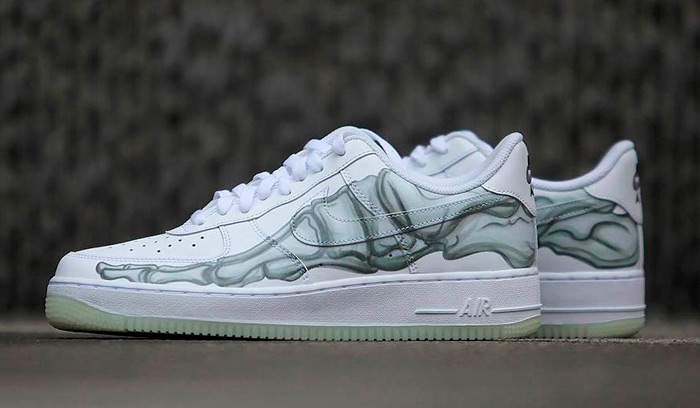ab9d0008364a1 Nuevas Nike Air Force 1 Skeleton