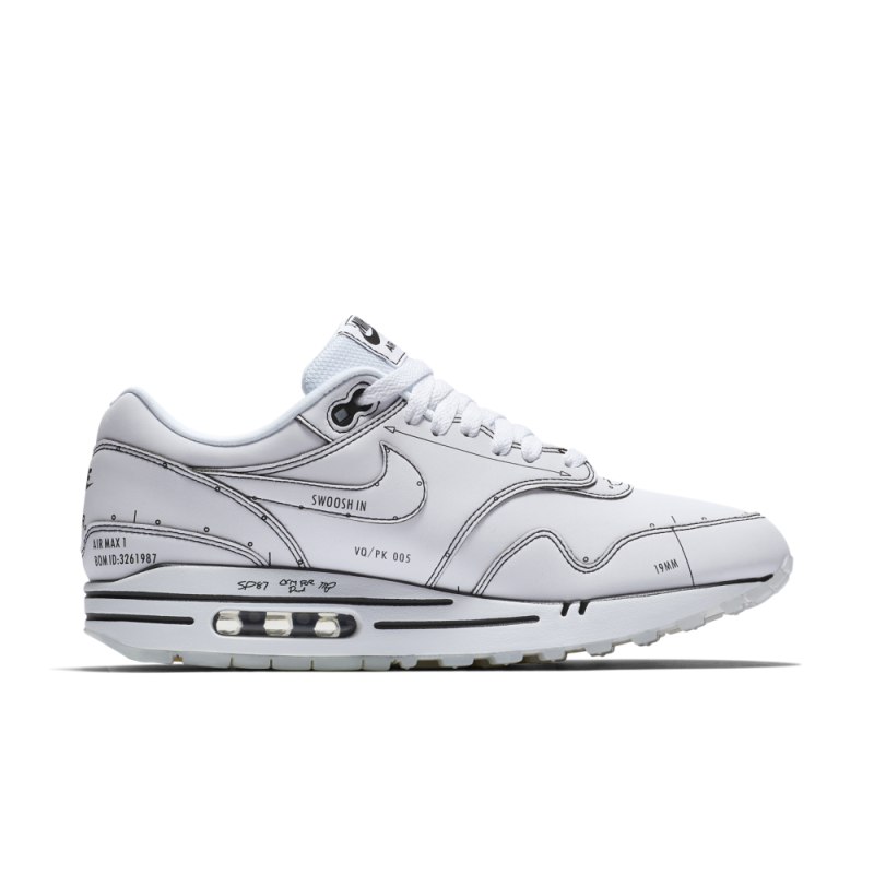 Nike Air Max 1 Sketch to Shelf Tinker Blancas