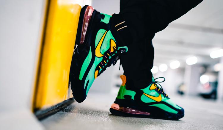 Nike-Air-Max-270-React-on-feet-electro-green