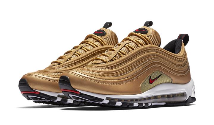 Lanzamientos de sneakers Nike-Air-Max-97-Metallic-Gold