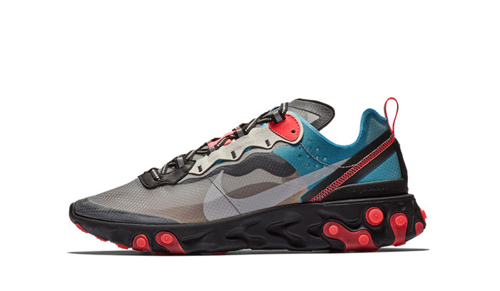 Nike React Element 87 Blue Chill Solar Red
