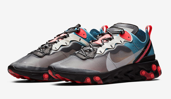 the latest 75959 66d78 Nike React Element 87 Blue Chill Solar Red