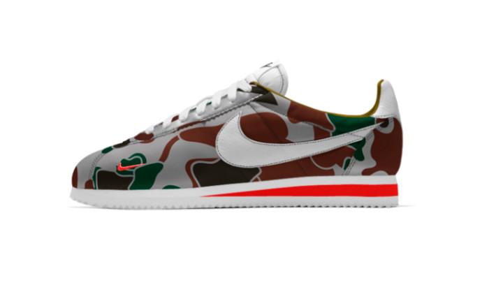 Nuevas opciones Camo y Mini Swoosh para Cortez en Nike ID