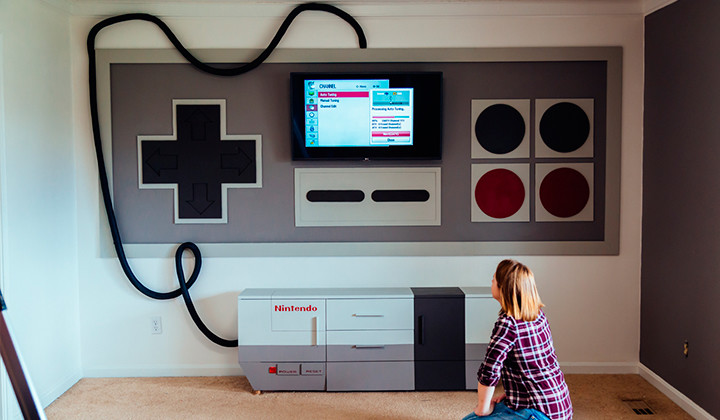 Qué tal una Nintendo gigante en tu salón?