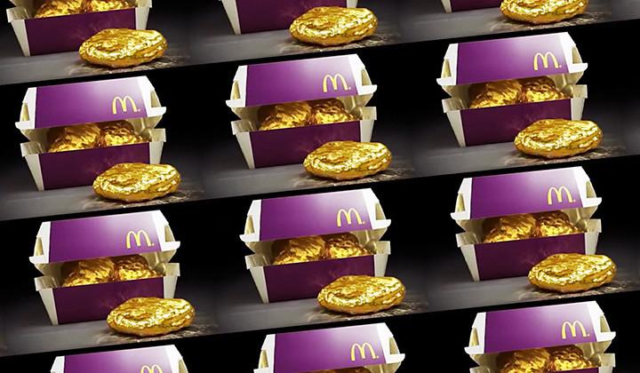 Si estás en Japón y vas a McDonalds te puedes llevar un Nugget de oro de 18 kilates