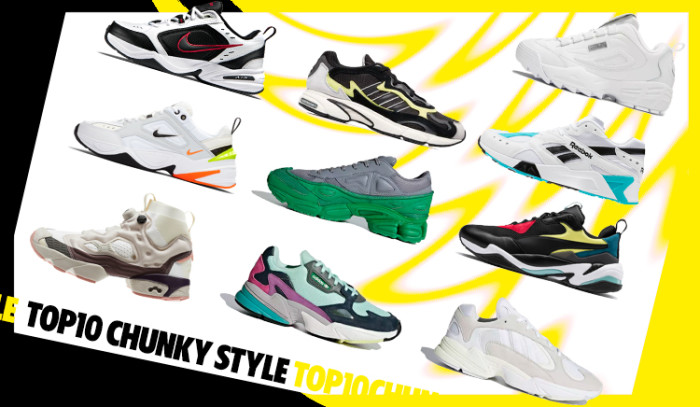 Descubre nuestro Top 10 sneakers Chunky style