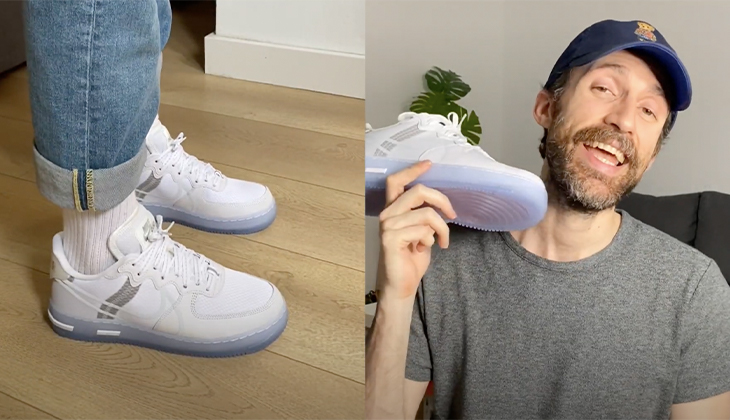 BackseriesTv: Review Nike Air Force 1 React Ice QS – Las mejores AF1 React hasta el momento?