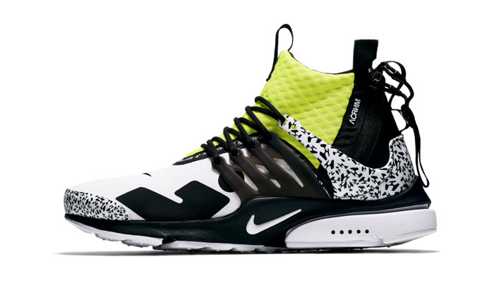ACRONYM x Nike Air Presto Mid White Volt