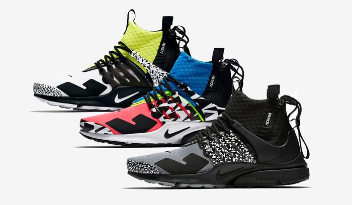 Nuevos colores de las Acronym x Nike Air Presto Mid