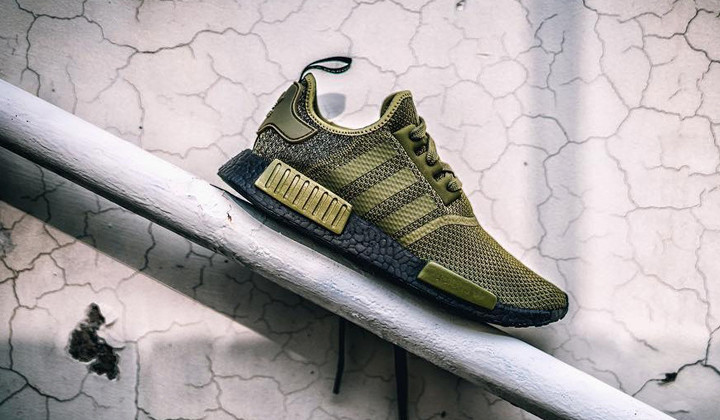 adidas NMD R1 Olive Green Black Boost