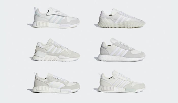 Segunda parte para la colección de híbridos: adidas Never Made Pack Triple White.