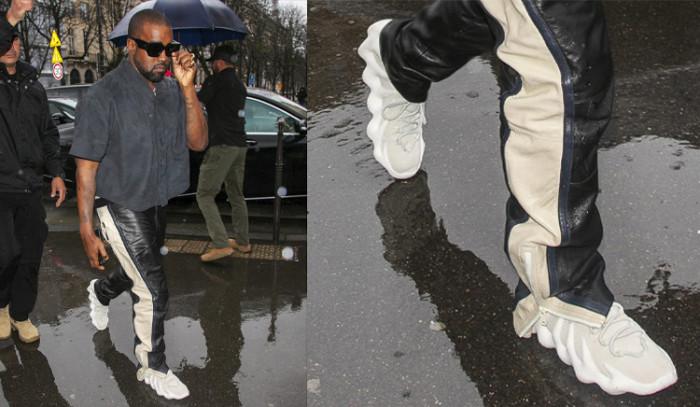 Hemos pillado a Kanye usando las nuevas adidas Yeezy 451...