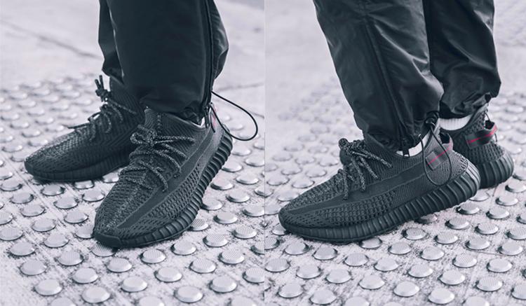 adidas-yeezy-boost-350-v2-black-FU9006-on-feet
