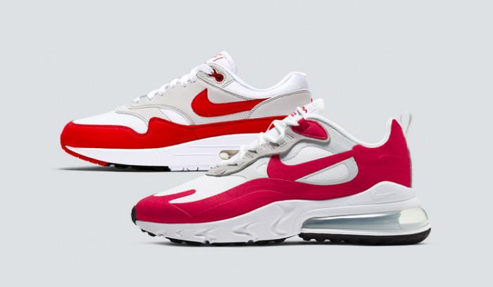 Las Nike Air Max 270 React white Red se visten de historia.