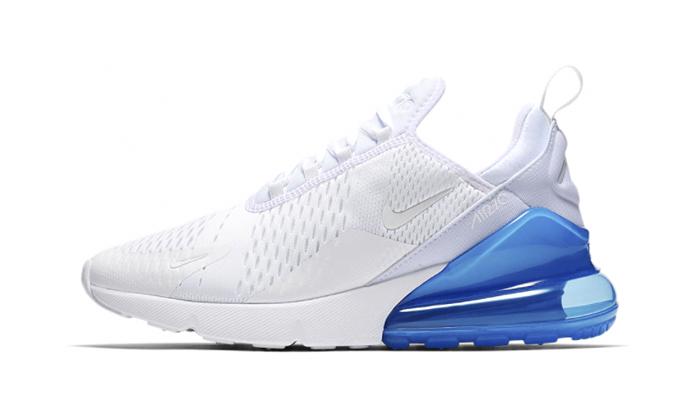 air max 270 white blue