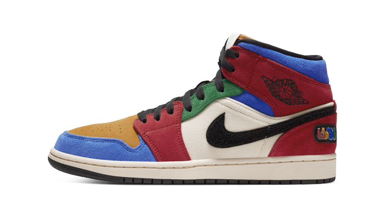 Colorful Blue The Great x Air Jordan 1 Mid Fearless