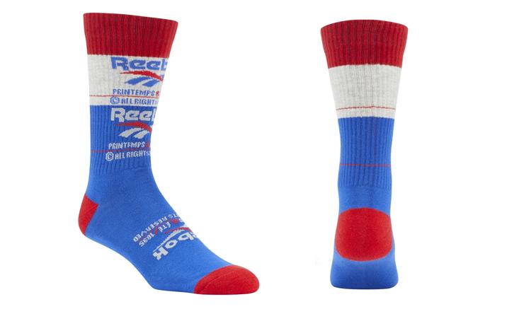 calcetines reebok azul blanco rojo