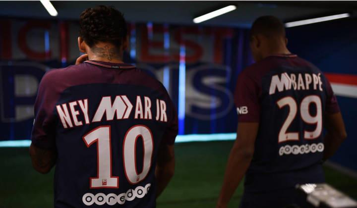 Nuevas camisetas de Nike para Neymar y Mbappé