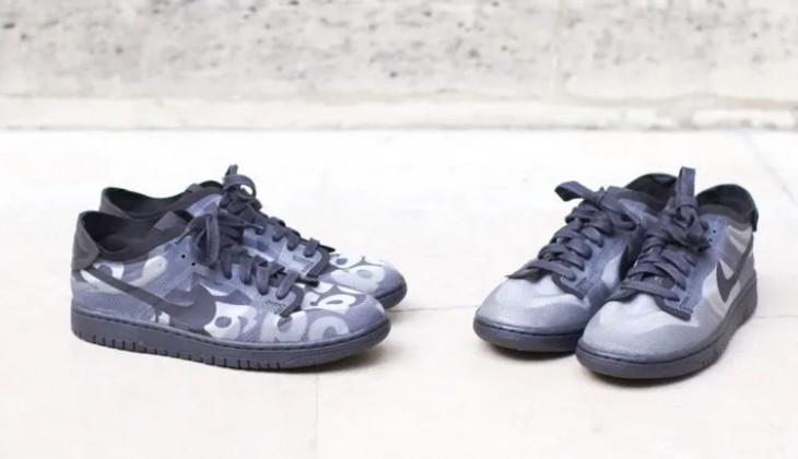 Las dos versiones de las Comme Des Garçons x Nike Dunk Low
