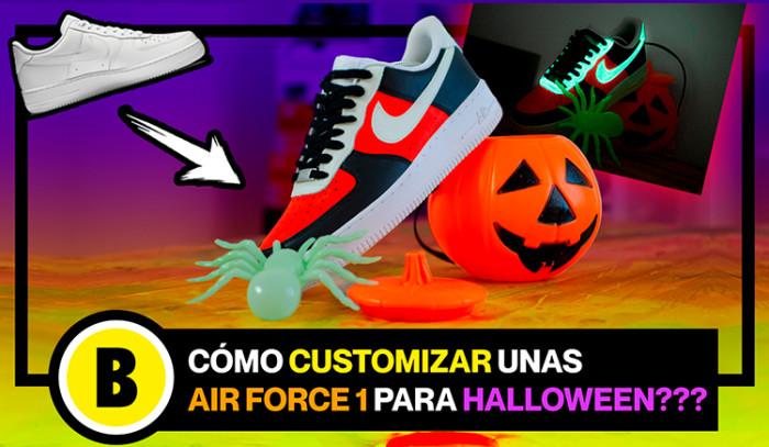 BackseriesTV: Cómo customizar unas Nike Air Force 1 para Halloween?