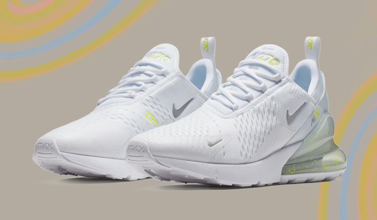 efc8e0549b El blanco y el Volt visten a las nuevas Nike Air Max 270 - Backseries