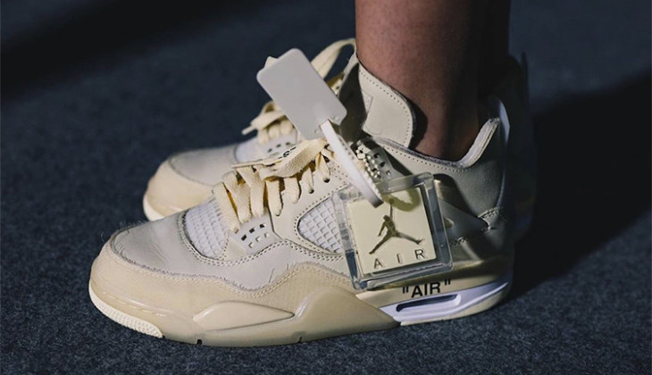 Estas Off White x Air Jordan 4 White Tan, serán un visto y no visto!