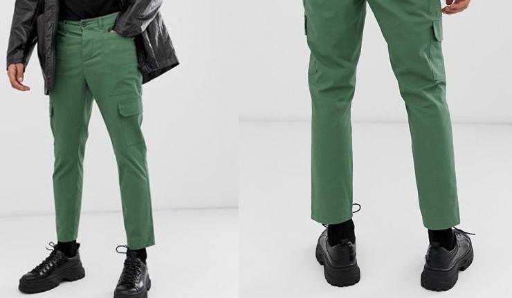 comprar-pantalones-tobilleros-cargo-verde