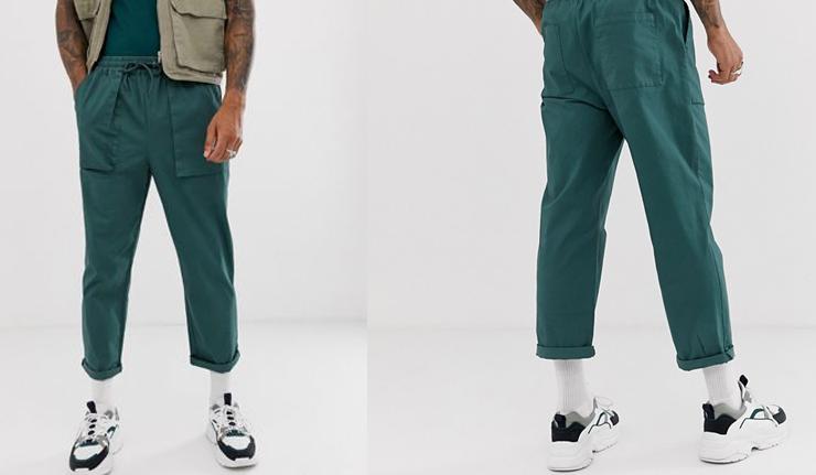 comprar-pantalones-tobilleros-verde-bolsillos