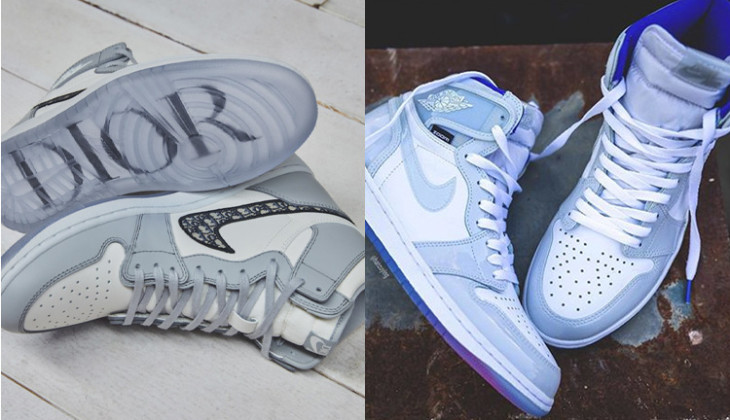 Air Jordan 1 High Dior Vs Air Jordan 1 High Zoom Racer Blue
