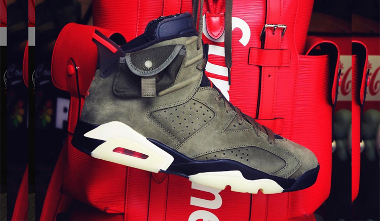 travis scott air jordan 6 medium olive