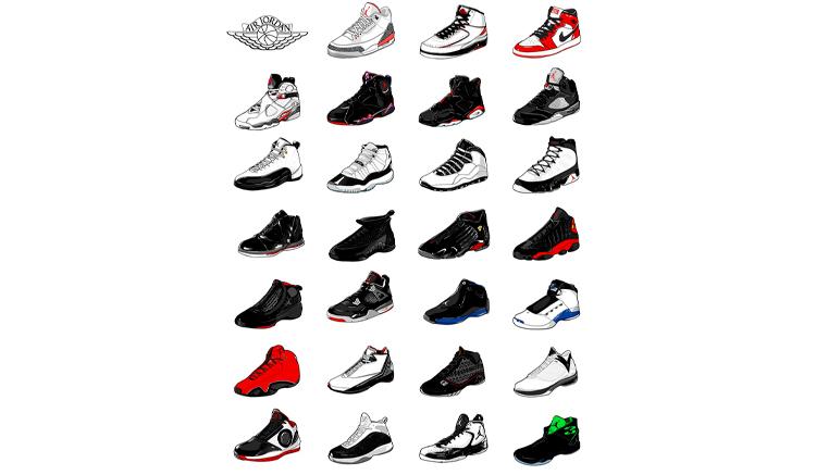 jordan-sneakers-illustrations